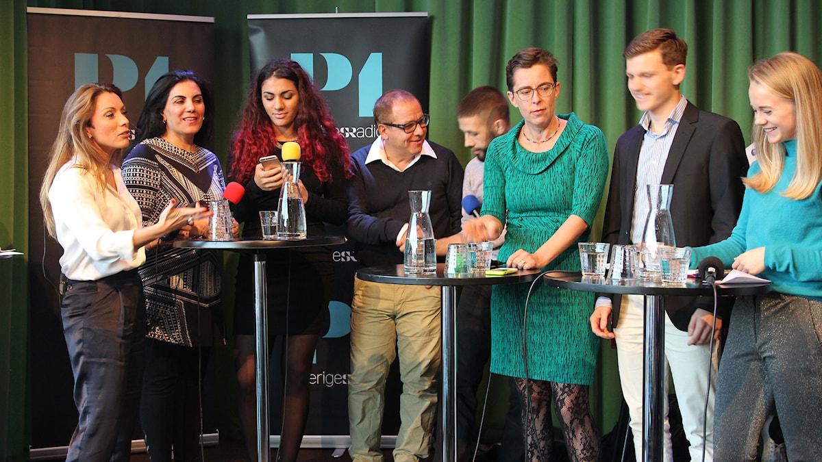 P1 Debatt om Mobbing. Foto: Sveriges Radio.