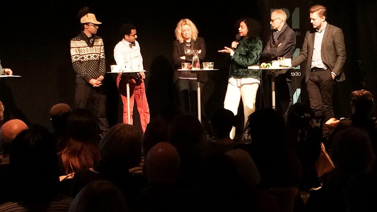P1 Debatt: Vem bestämmer om konst är rasistisk? Foto: Sveriges Radio.