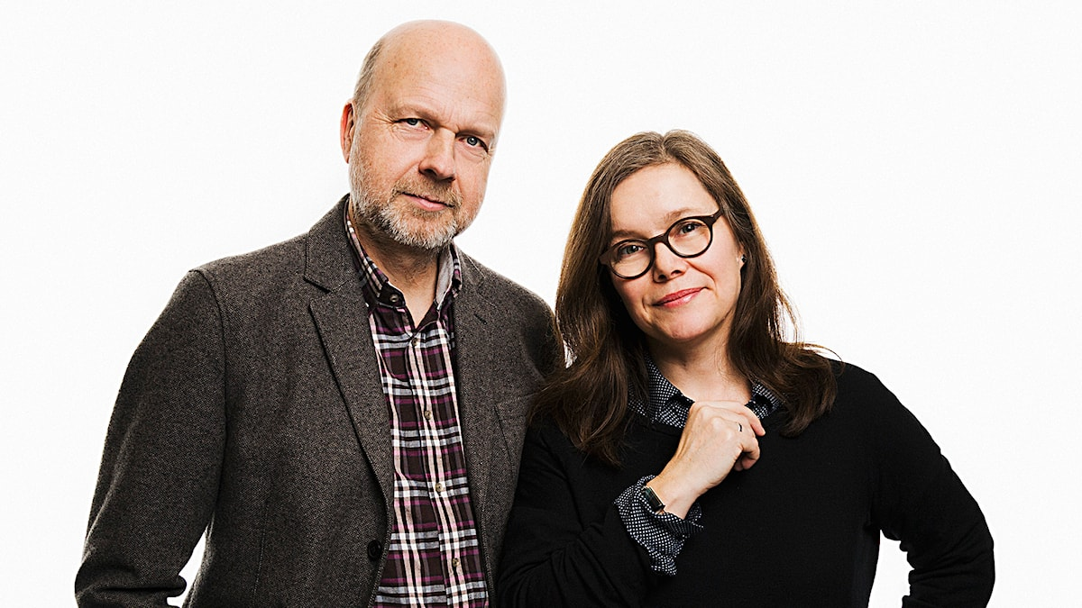 Gunnar Bolin och Anneli Dufva. Foto: Mattias Ahlm/Sveriges Radio.