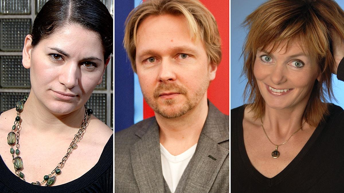 Rakel Chukri, Björn Wiman och Gunilla Kindstrand. Foto: SVT Bild/TT/SVT Bild