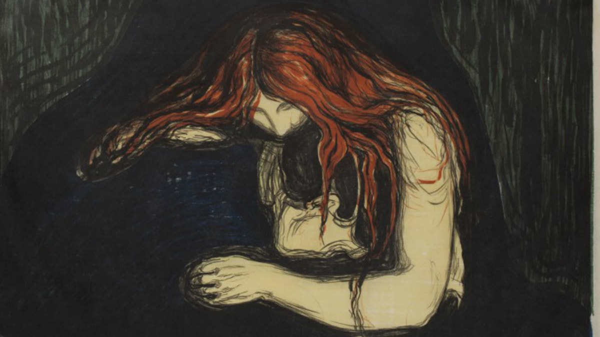 Edvard Munch, Vampyren, 1895. Foto: Prins Eugens Waldemarsudde
