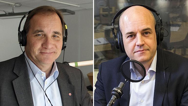 Stefan Löfven och Fredrik Reinfeldt. Foto: Sveriges Radio.