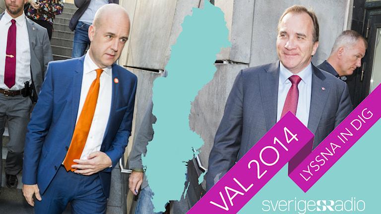 Fredrik Reinfeldt och Stefan Löfven. Foto: Mattias Ahlm/Sveriges Radio
