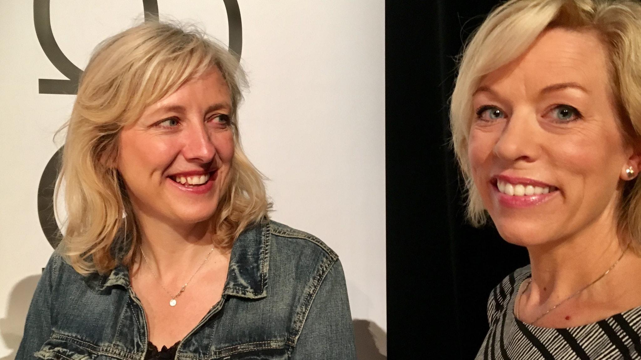 Carole Cadwalladr och Ginna Lindberg