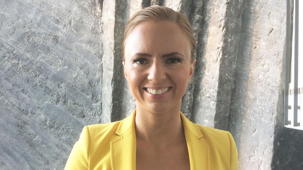 Sara Skyttedal, Kristdemokraternas toppkandidat inför EU-valet.