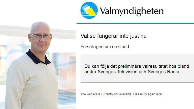 Carl Sjöberg,  it-chef vid Valmyndigheten.