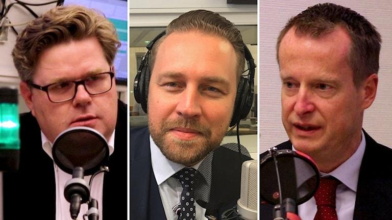 Anders Ygeman (S), Mattias Karlsson (SD) och Gunnar Strömmer (M).