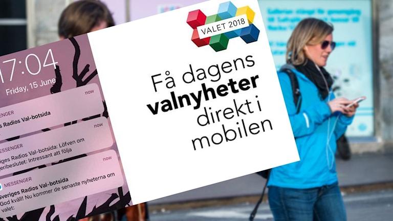 Få nyheter om valet med Sveriges Radios valbot.