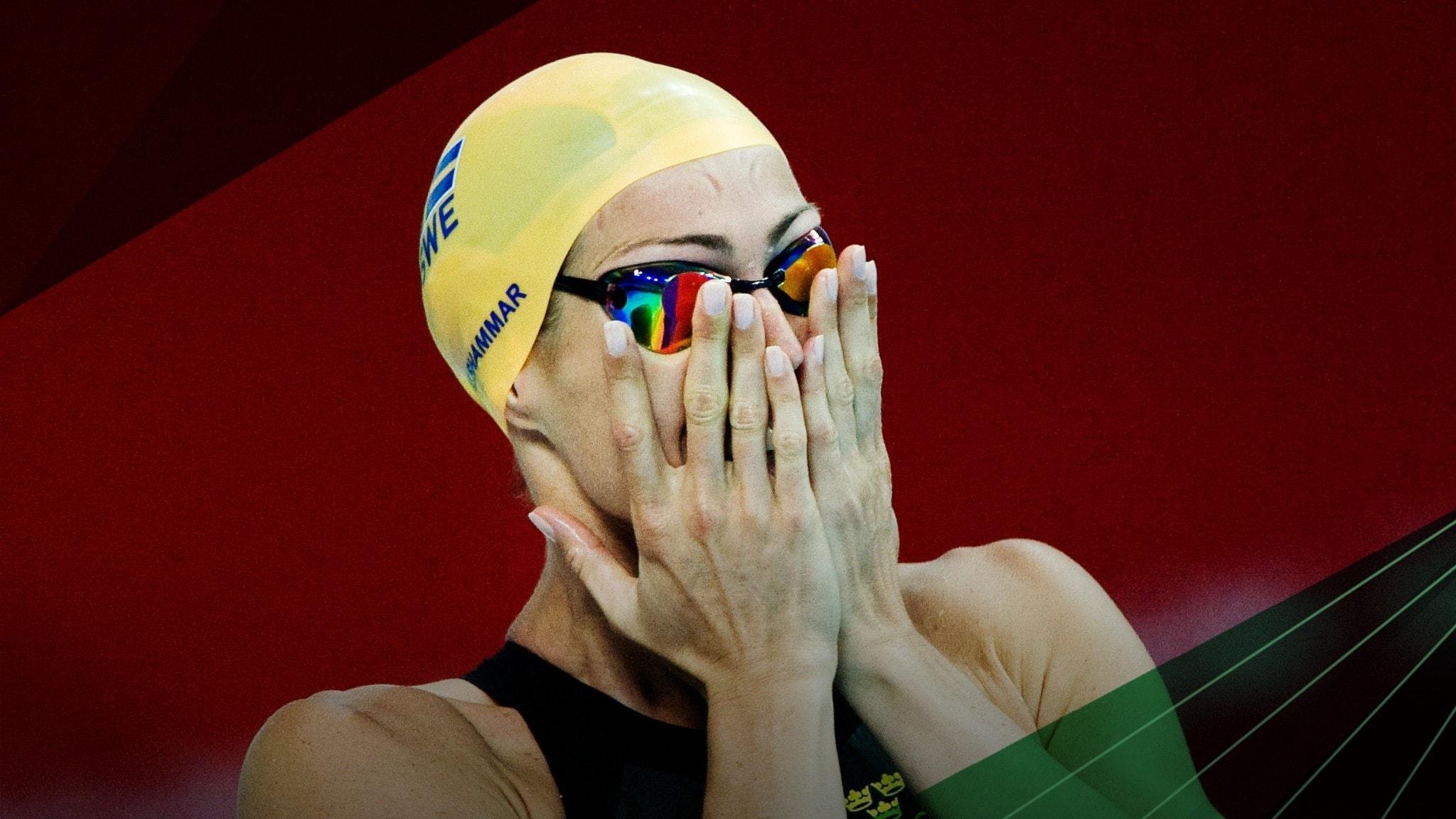 Therese Alshammar vid Peking-OS 2008