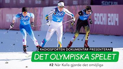 Charlotte Kalla i Det olympiska spelet. Foto: TT