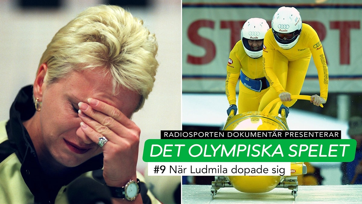 Collage Ludmila Enquist bob. Foto: TT, collage SR