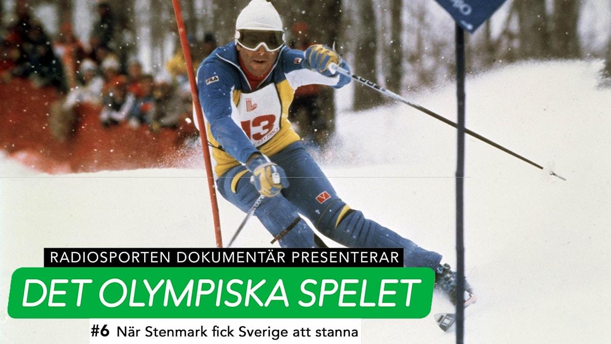Ingemar Stenmark under OS 1980.