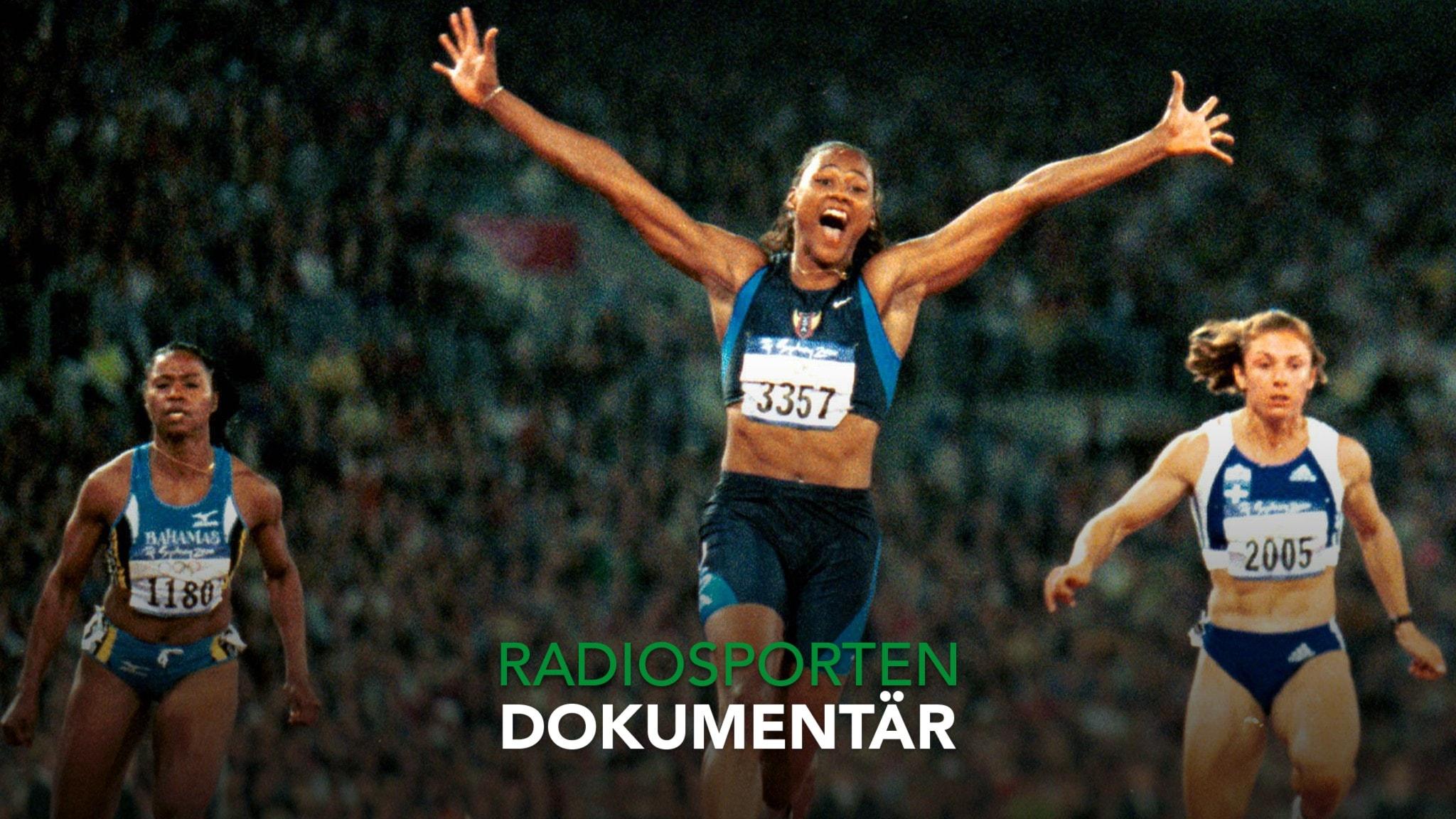 Marion Jones seger på 100 meter i OS 2000.