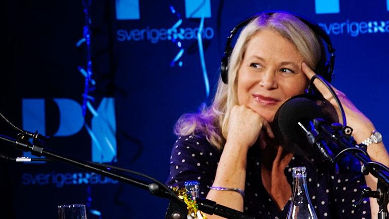 Helena von Zweigbergk i radioprogrammet Spanarna. Foto: Stina Gullander /Sveriges Radio