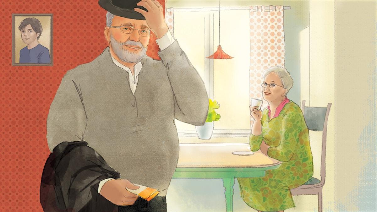Solvargen del 1. Illustration: Yunin Ström/Sveriges Radio AB