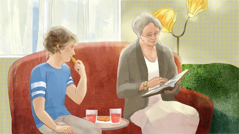 Solvargen del 3. Illustration: Yunin Ström/Sveriges Radio AB