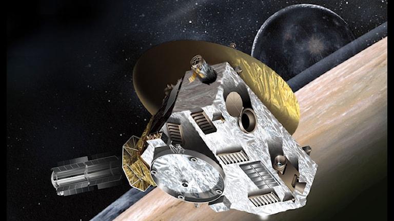 New Horizon utanför Pluto. Foto: NASA