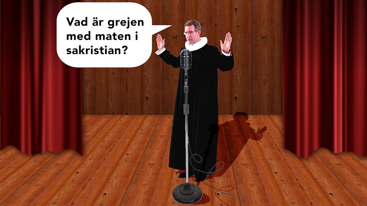 Präster som skämtar