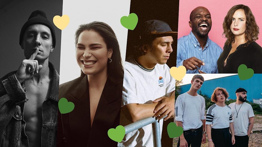 Daniel Adams-Ray, Molly Hammar, Sam Florian, Tribe Friday, Kodjo Akolor och Hanna Hellquist