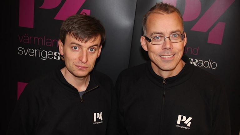 Magnus Hermansson och Johan Lindqvist. Foto: Lars-Gunnar Olsson/Sveriges Radio.
