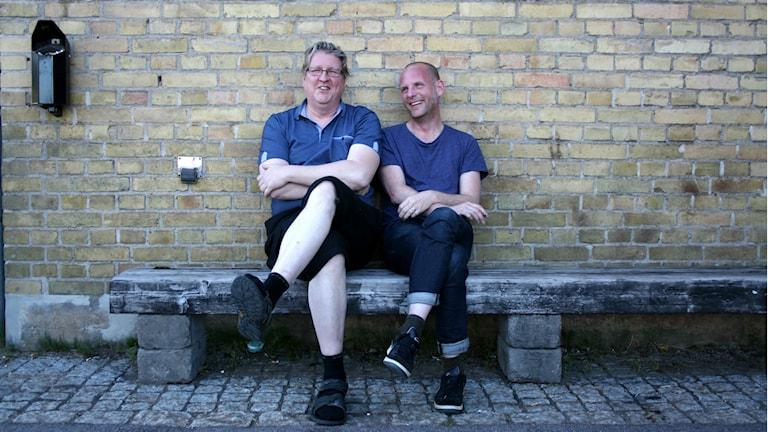 Bosse och Bengt på bänk