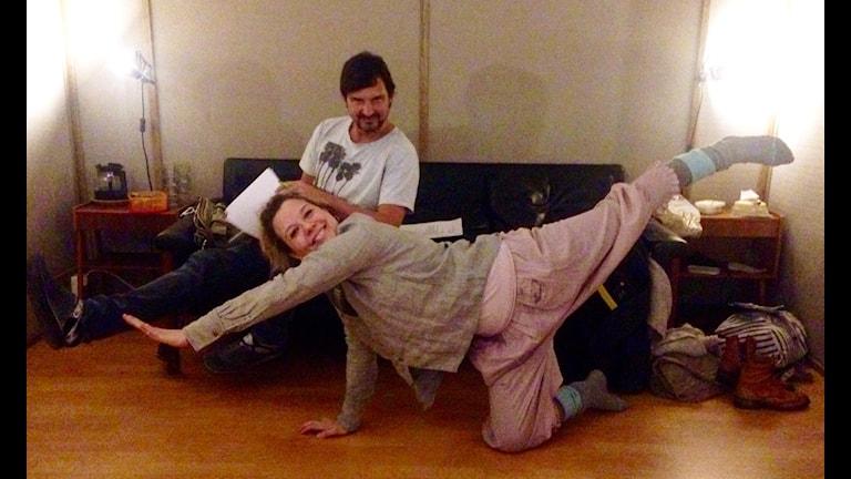 Morgan och Emma morgongympar