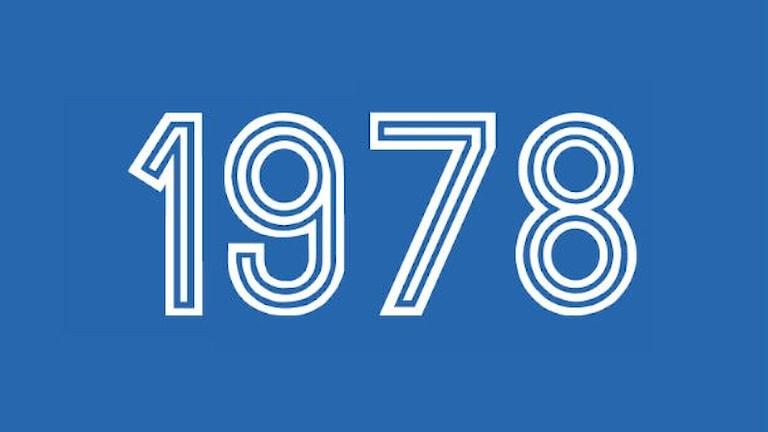 årtalet 1978 i blått och vitt