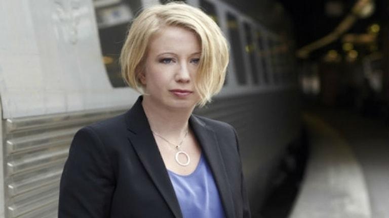Författaren Kristina Ohlsson är med i Kulturjouren i SöndagsMorgan i P4.