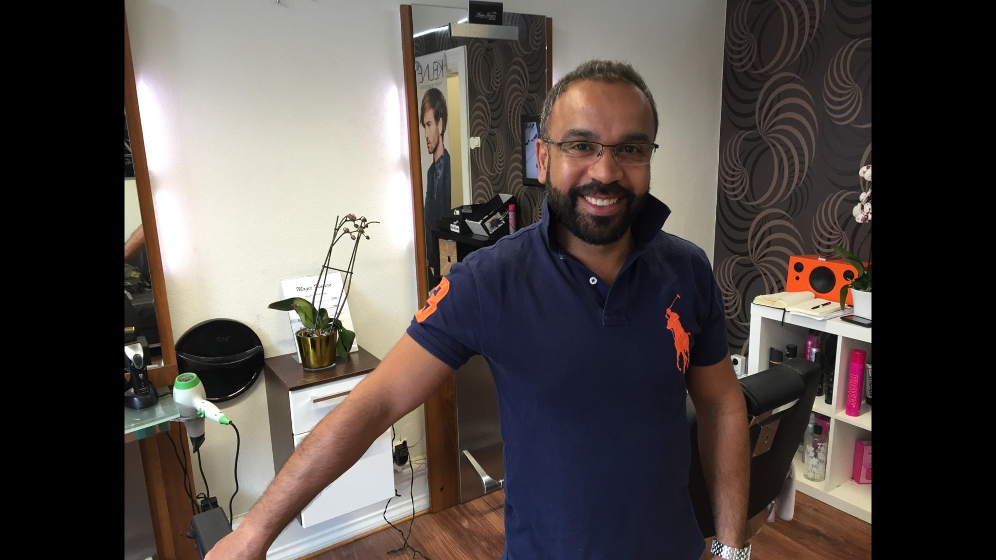 Mohammed Ahmed, frisör i Malmö