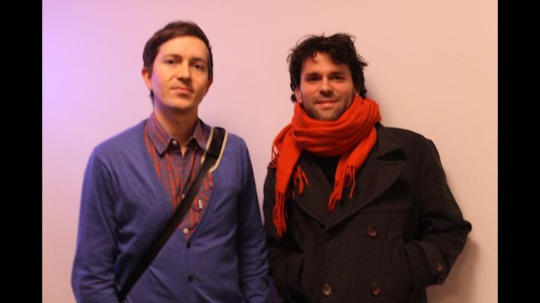 Foto på Johannes Mosskin och Axel Bladh.