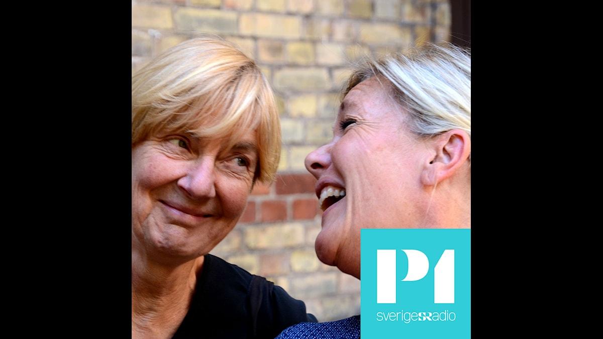 Karen Söderberg och Agneta Nordin i Pyramiden. Foto: Lars Mogensen/Sveriges Radio