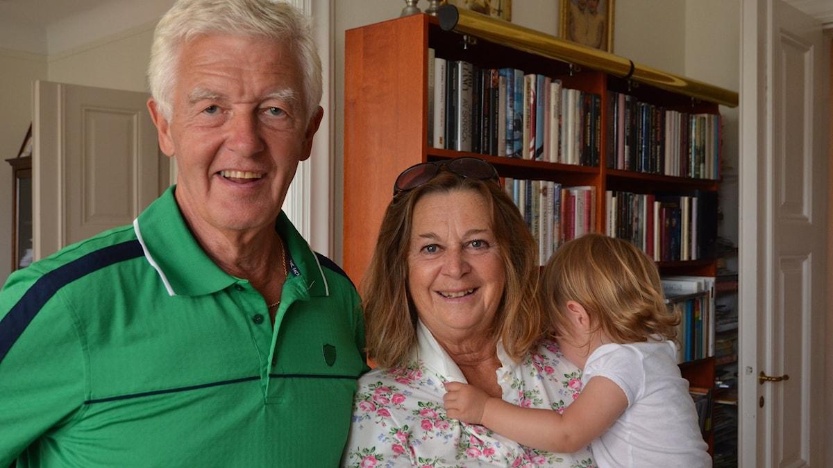 Lasse och Malou Månsson har sex barnbarn som de ägnar mycket tid åt.