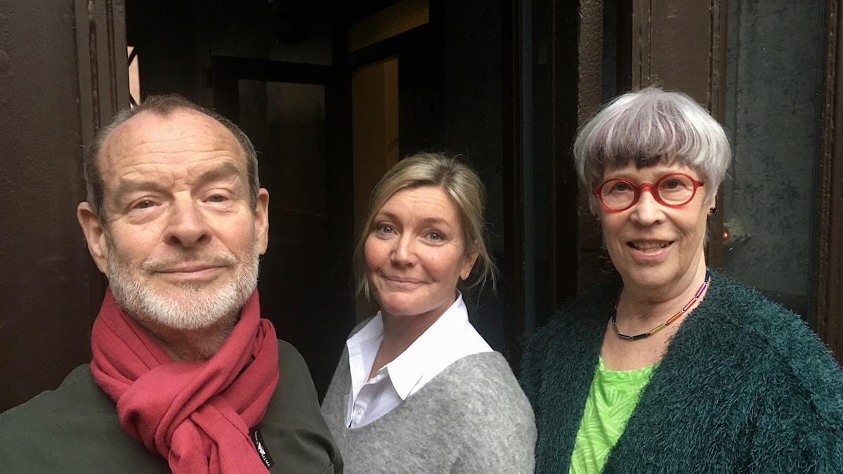 Thomas Ahlner, Agneta Nordin och Lotta Skoglund