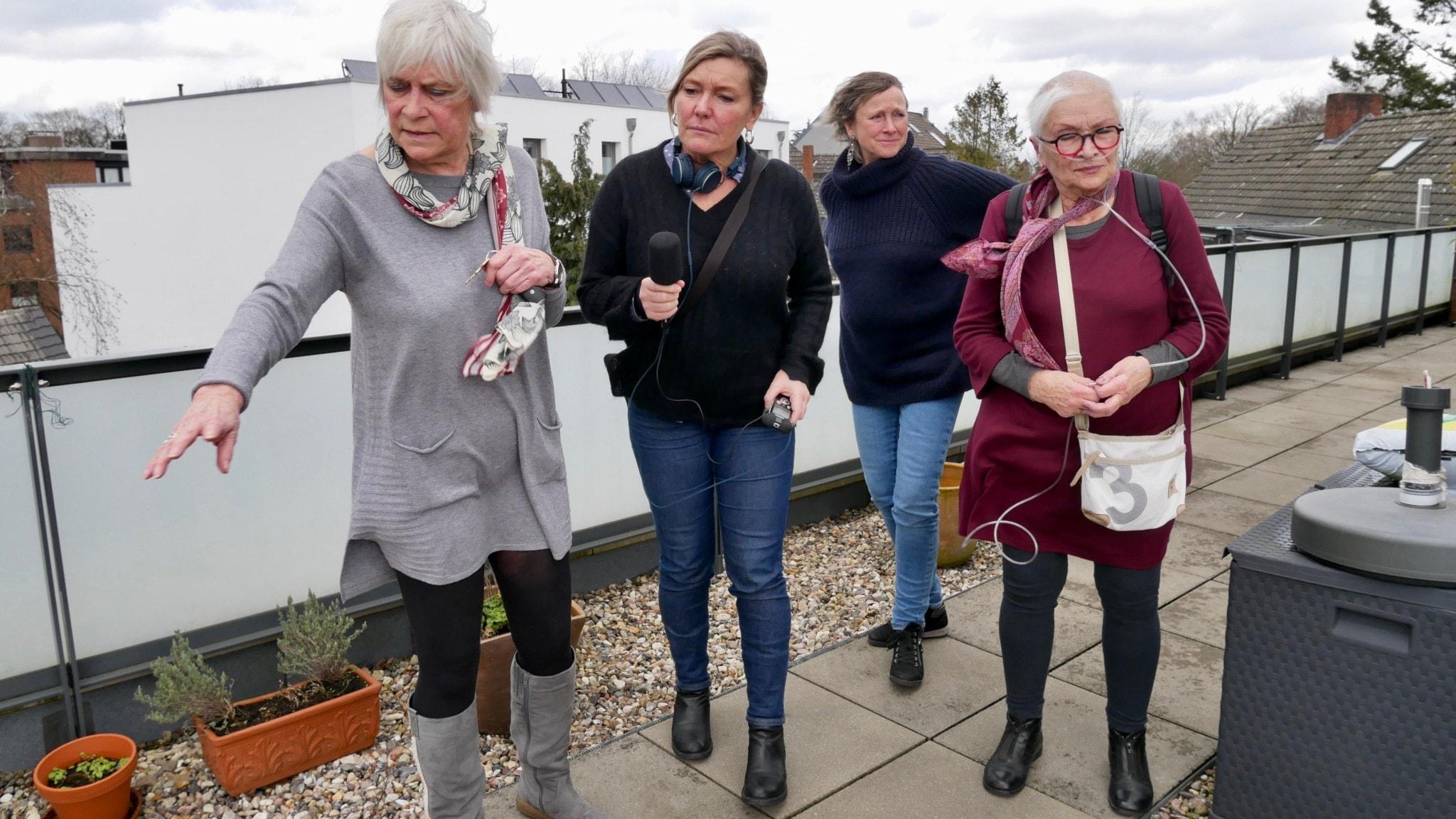 Casa Nueva, seniorboende för damer i Hamburg. Elke Voss, programledare Agneta och Christine Behrens, Roswitha Klaassen