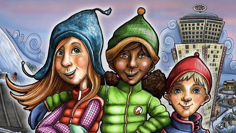 Programbild Julkalendern 2014 High Tower. Illustration Anna Westin.