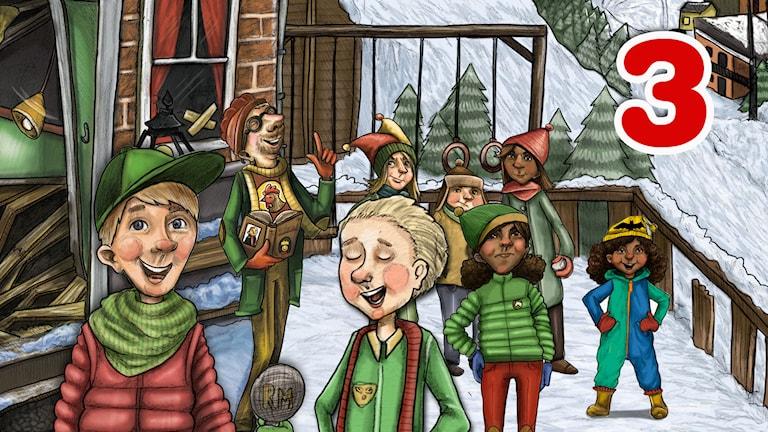 Julkalender 2014. High Tower AVSNITT 3. Illustratör: Anna Westin/SVeriges Radio AB