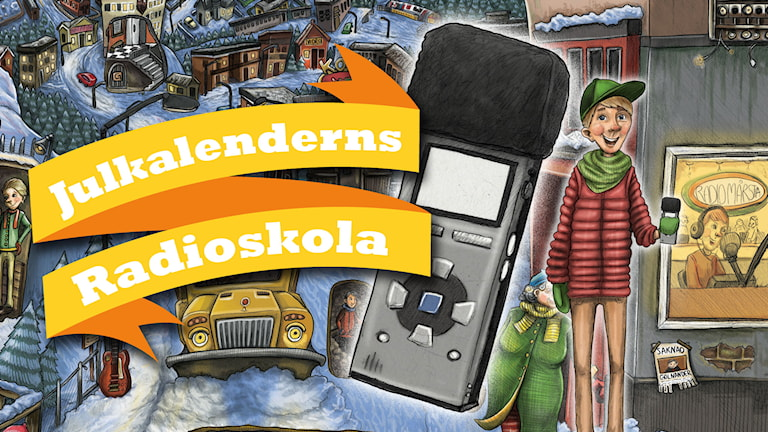 Julkalender 2014. High Tower Radioskolan. .Illustratör: Anna Westin/Sveriges Radio AB