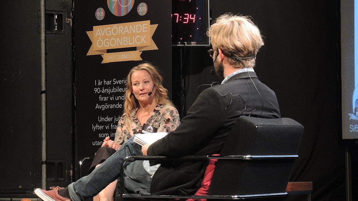 Anna Landelius, utrikeskorrespondent i Danmark. Foto: Nils Lindström/Sveriges radio