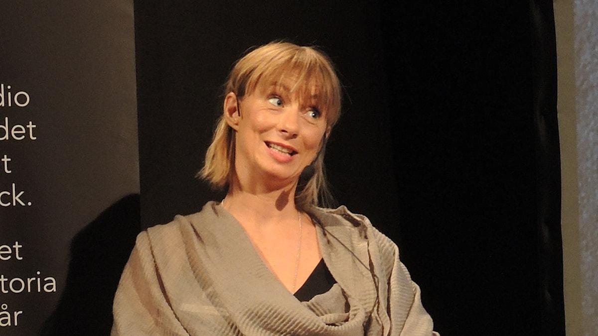 Lisa Bergström, Sveriges radios utrikeskorrespondent. Foto: Nils Lindström