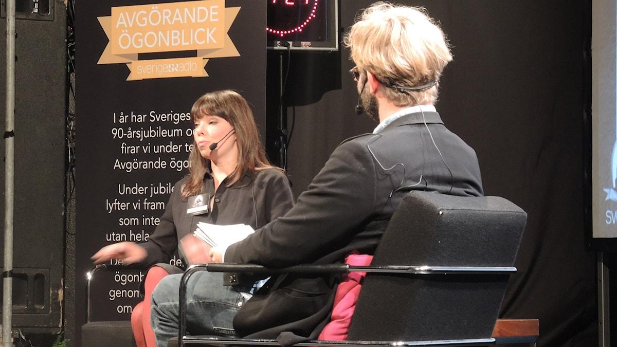 Thella Johnsson, utrikeskorre. Foto: Nils Lindström/Sveriges radio