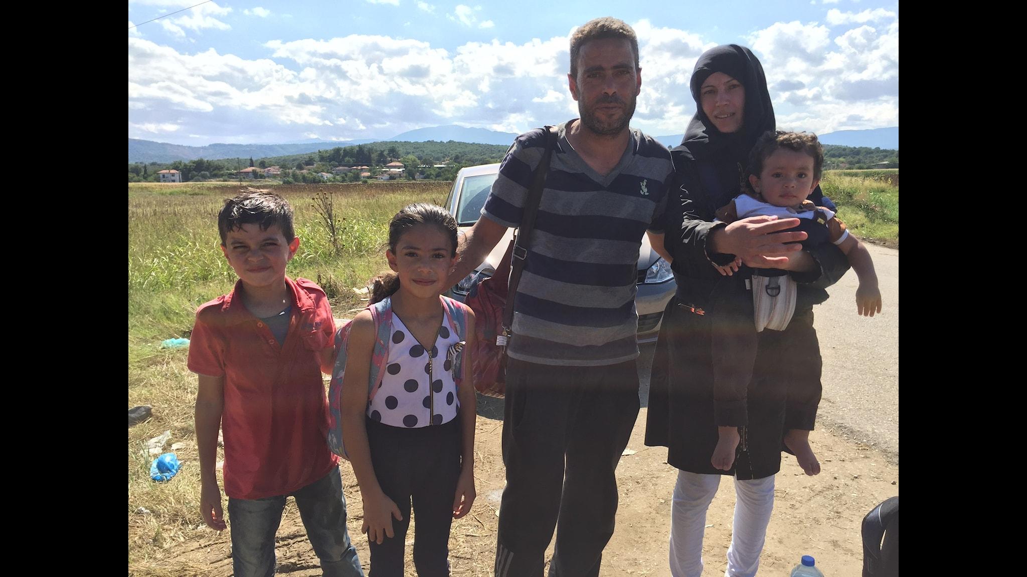 Syrisk flyktingfamilj