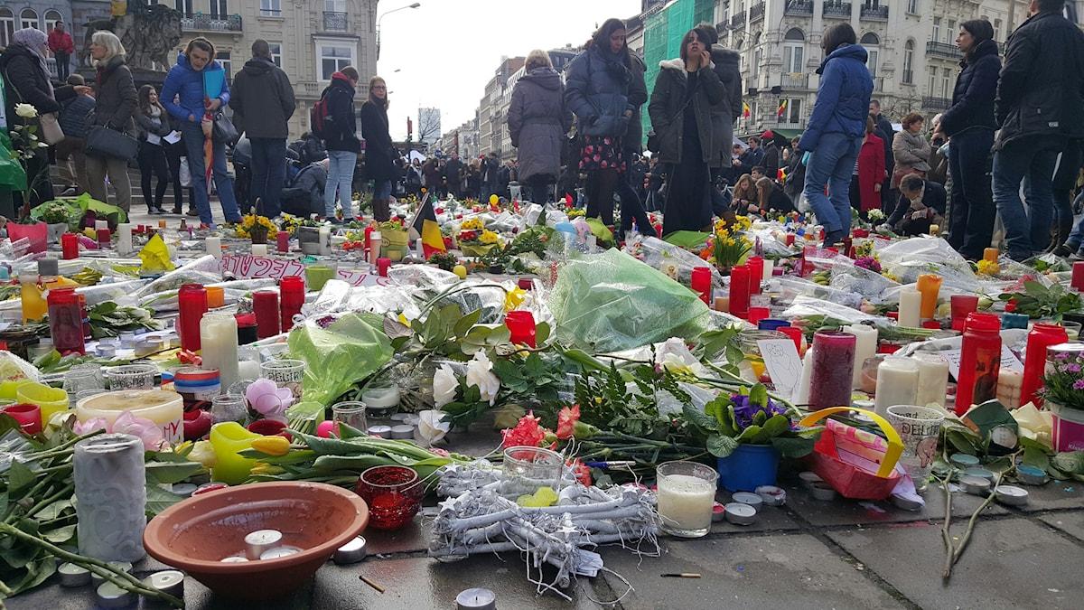 Minnesplats i Bryssel - Place de la Bourse