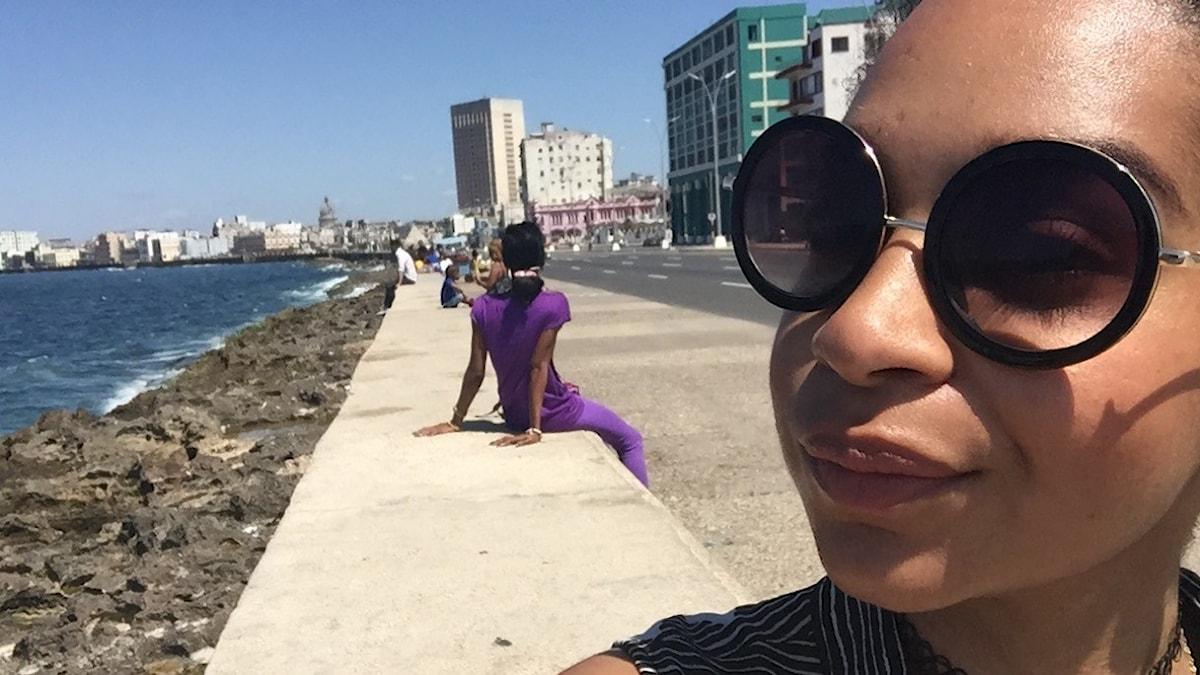 Palmira tar selfie i Havanna