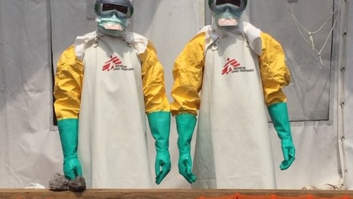 Läkare utan gränser ebolaklinik i Goma i östra Kongo.