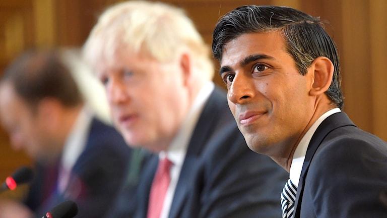Storbritanniens finansminister Rishi Sunak och premiärminister Boris Johnson