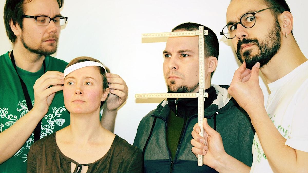 Erkki Kuronen, Kaisa Vuonokari, Andreas Ali Jonasson och Maziar Farzin. Foto: Helena Huhta