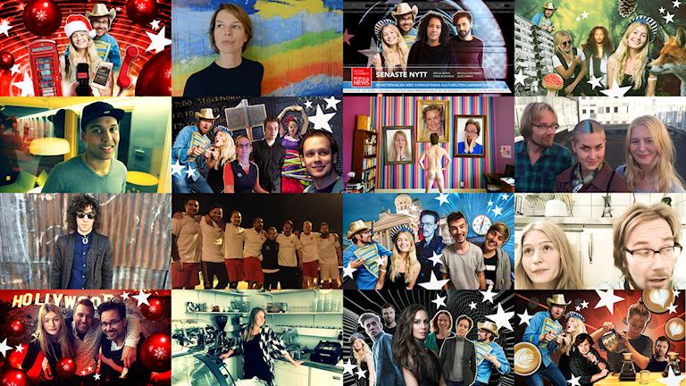Kuvia Populan eri jaksoista vuoden 2015 ajalta. Bildkollage: Erkki Kuronen, Sveriges Radio Sisuradio