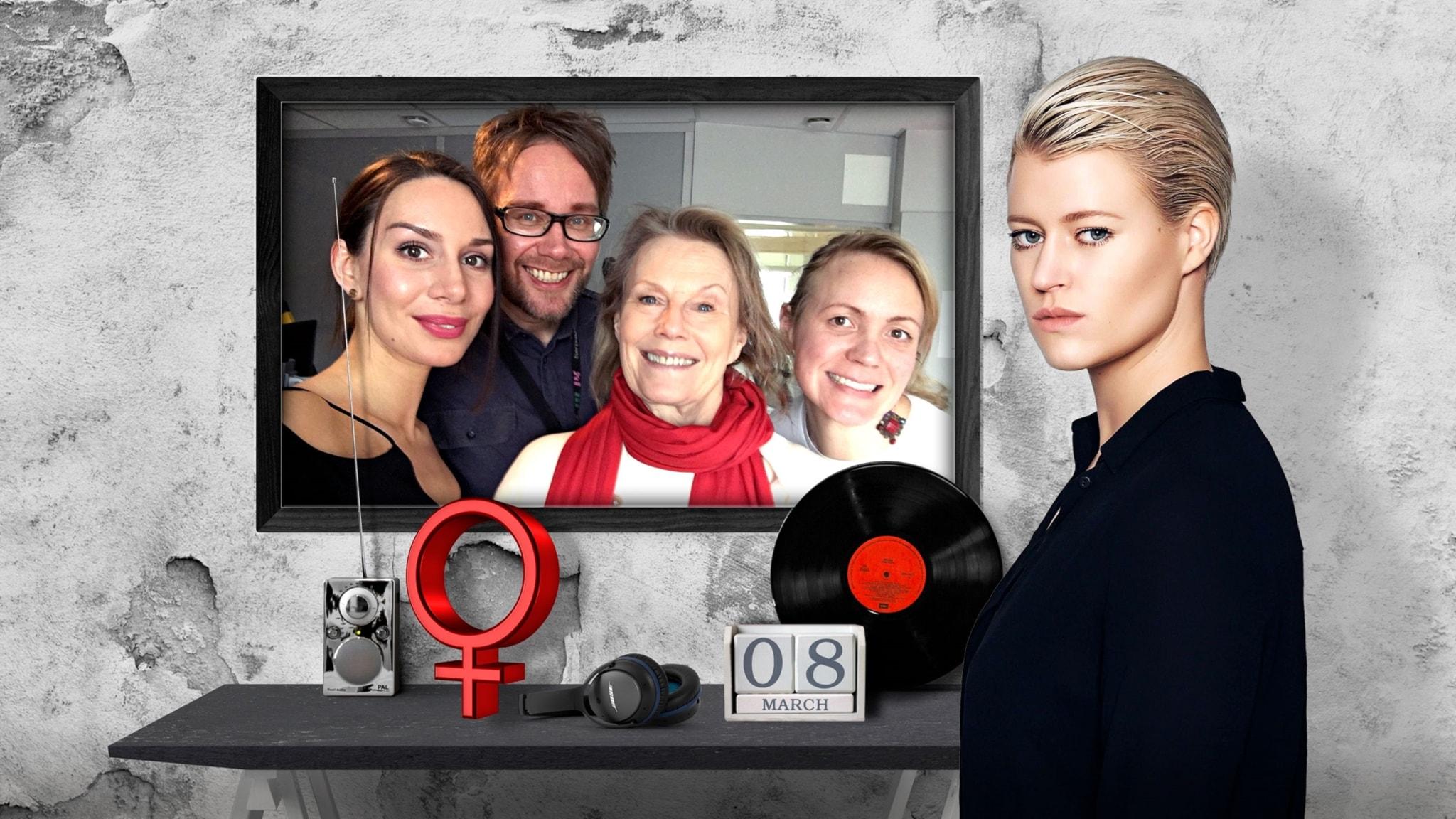 Popula hyllar kvinnorna tillsammans med Arja Saijonmaa och DJ Gunn Lundemo