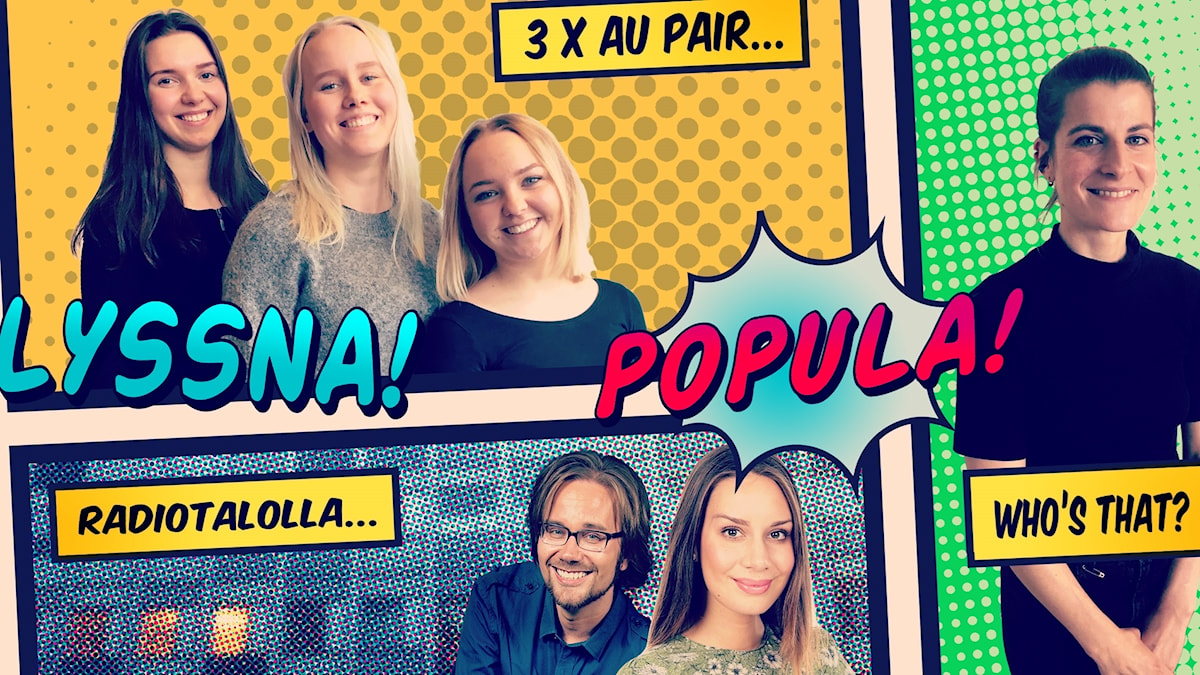 Tre glada au pairer från Finland