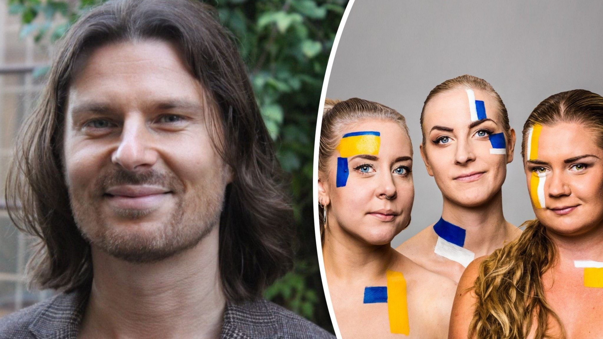 Toni Järlström bredvid Sanna Laakso, Meimi Taipale, Natalie Minnevik.